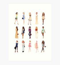 Trendy Princesses Art Print
