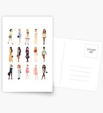 Trendy Princesses Postcards