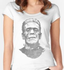 Franky goes to the Hollywood Cemetary Women's Fitted Scoop T-Shirt