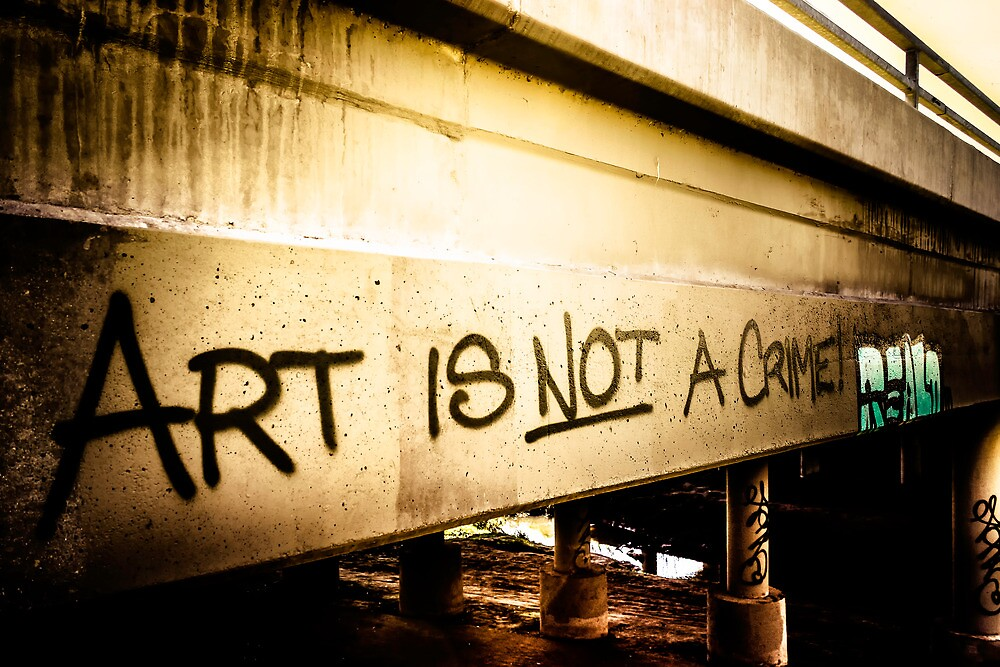 Art Is Not A Crime by Johanna M. Carmouche