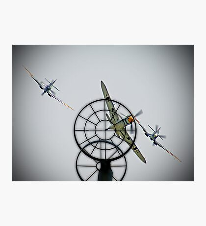 3 to 1 Outgunned!!  - Duxford Flying Legends 2013 Photographic Print