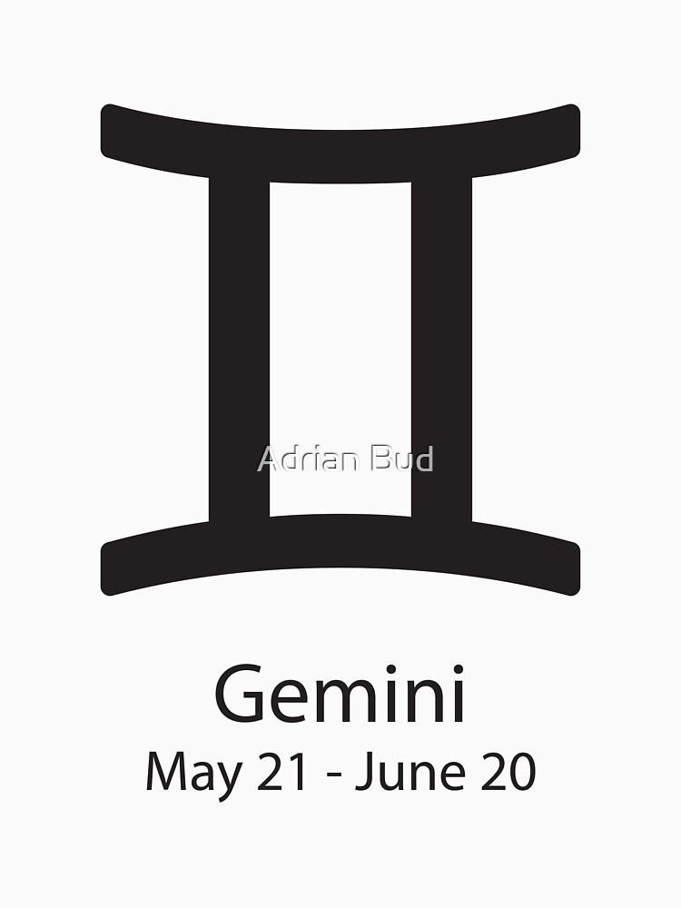 Zodiac Sign Gemini May 21 June 20 Womens T Shirt By Adibud