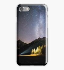milky way above the Val Fiscalina iPhone Case/Skin