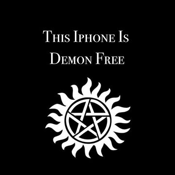 This iPhone is Demon Free by caitjacobs