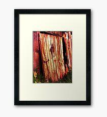 Broken Barn Door Framed Print