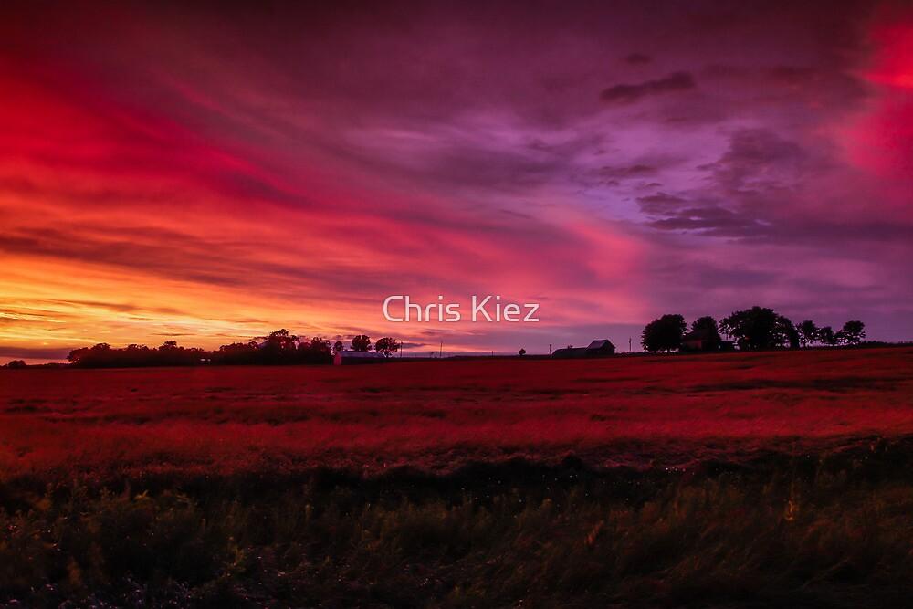 Fire sunset by Chris Kiez