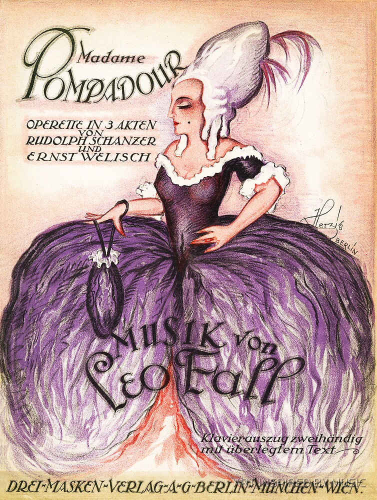 MADAM POMPADOUR  (vintage illustration) by ART INSPIRED BY MUSIC