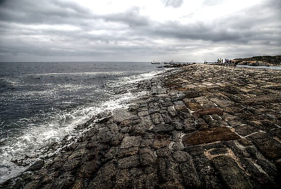 Cullercoats Habour Wall by Andrew Pounder