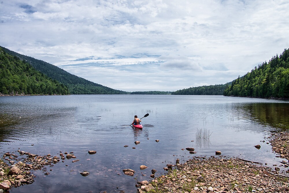 Jordan Pond Kayak by J. Day