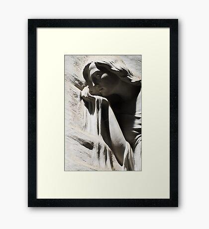 Like sand thru her fingers Framed Print