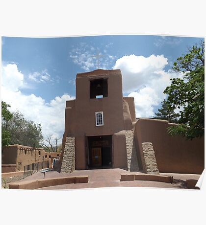 Oldest Church Structure in United States, San Miguel Church, Circa 1610, Santa Fe, New Mexico Poster