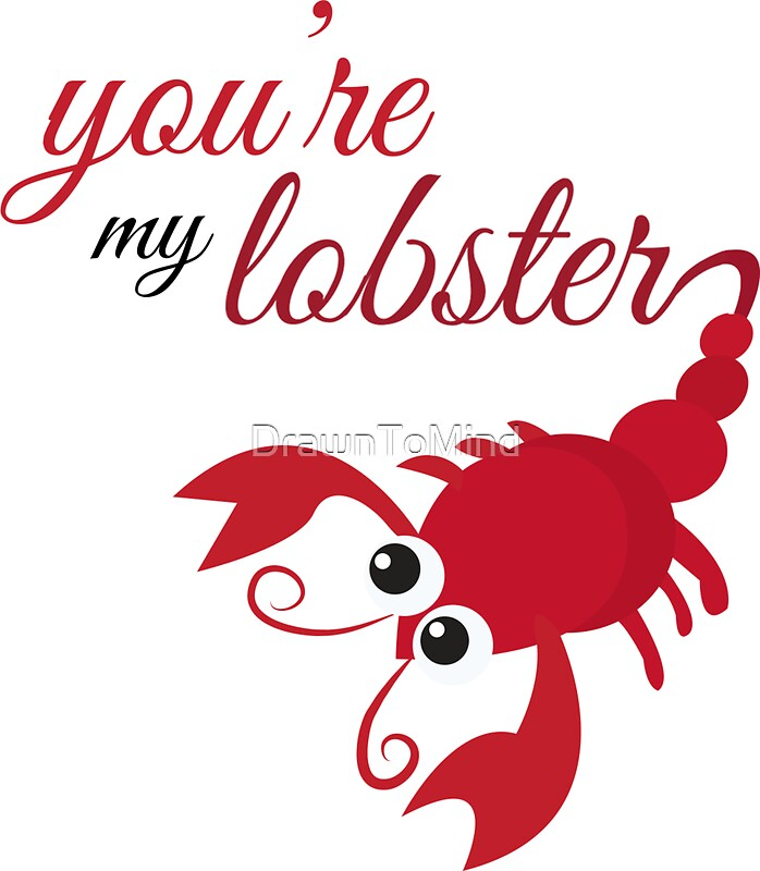 you re my lobster friends stickers by drawntomind