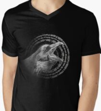 crow has something to say Men's V-Neck T-Shirt