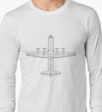 Lockheed C-130 Hercules Blueprint T-Shirt