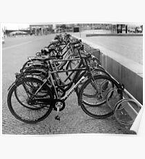 Bicyles - Black & White Poster