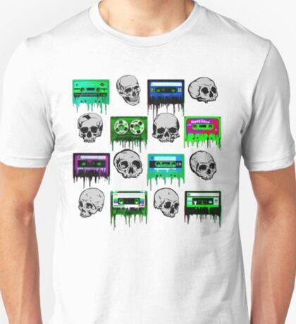 Skulls and creepy Tapes T-Shirt