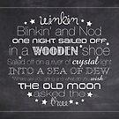 Winkin Blinkin and Nod – 4:5 – Chalkboard  by Janelle Wourms