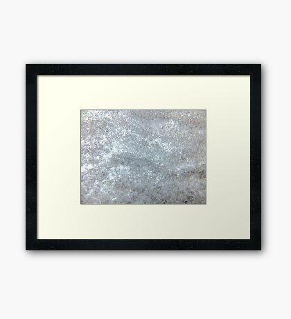 Snow yourself ! Framed Print