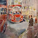 Bus Queue London Cities Art Gallery 9 by Ballet Dance-Artist