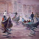 Gondolas Venice Italy - Boats Art Gallery by Ballet Dance-Artist