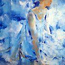 Dancer In Blue - Ballet & Dance Art Gallery by Ballet Dance-Artist
