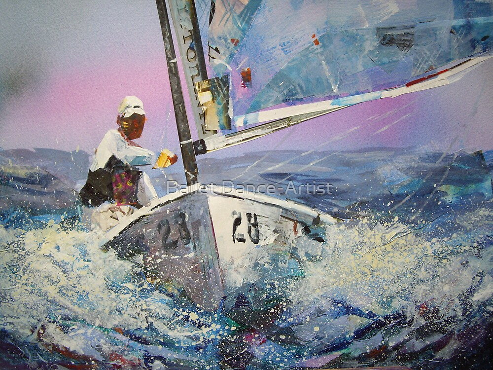 Racing At Sea - Sailing & Boats Art Gallery by Ballet Dance-Artist