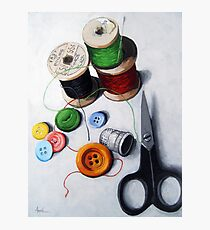 Sewing Memories 2 realistic still life Photographic Print