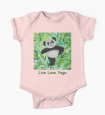 Live Love Yoga Panda Bear One Piece - Short Sleeve