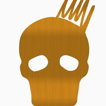 Cranium Gold Metallic Design by davidmorrison92