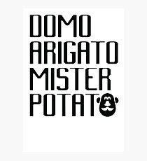 Domo Arigato Mister Potato Photographic Print