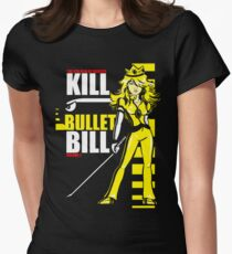 Kill Bullet Bill (Black & Yellow Variant) Women's Fitted T-Shirt