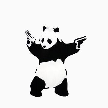 Banksy Panda With Handguns by iamjt