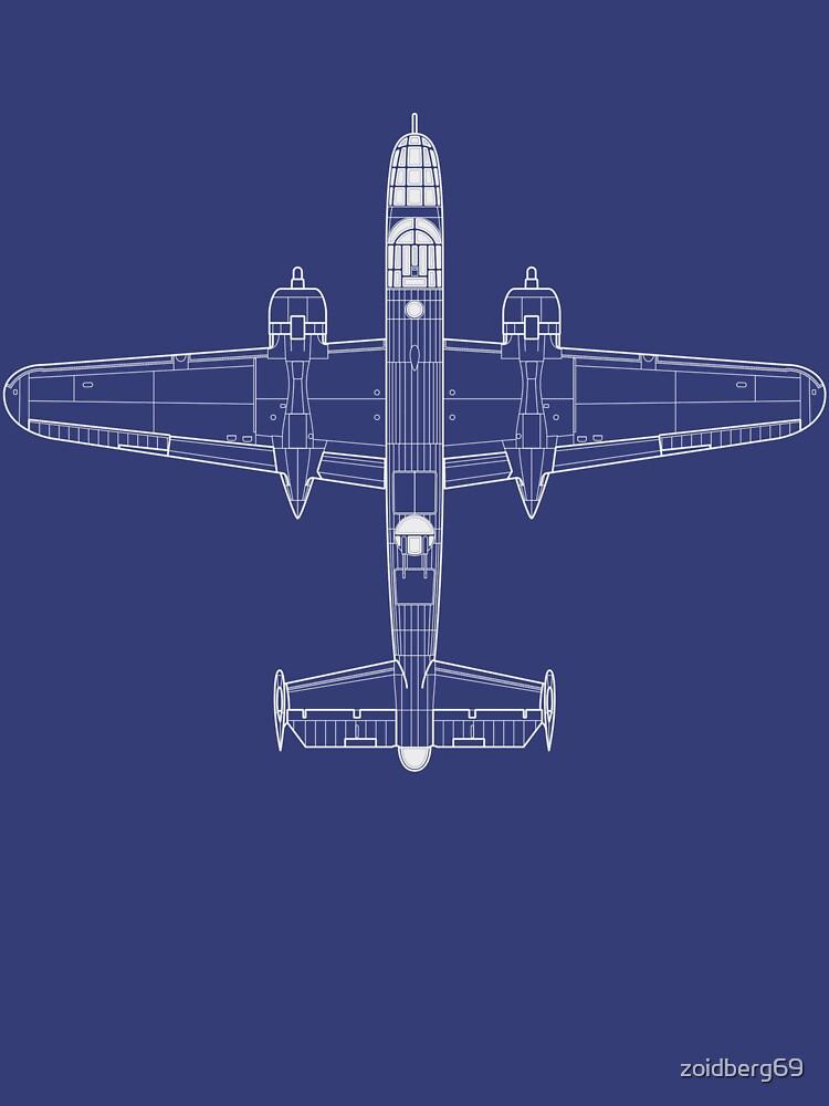North American B-25C Mitchell Blueprint by zoidberg69