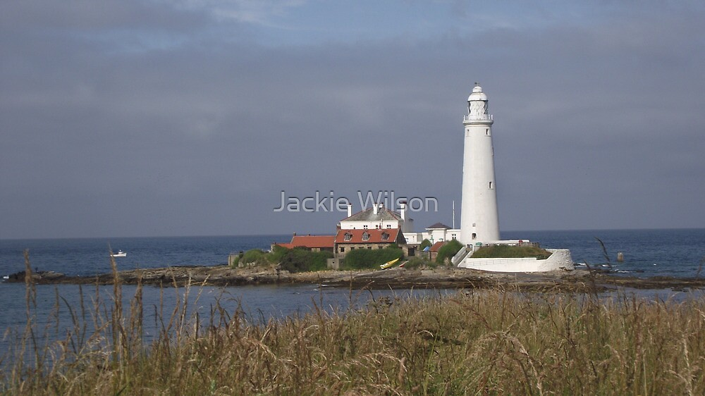 St Mary's Lighthouse Whitley Bay by Jackie Wilson