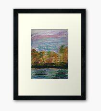 Pastel Sunset on the Riverbank Framed Print
