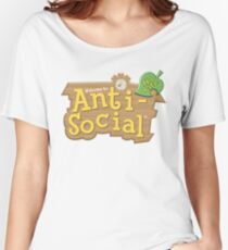 Animal Crossing Anti-Social Women's Relaxed Fit T-Shirt