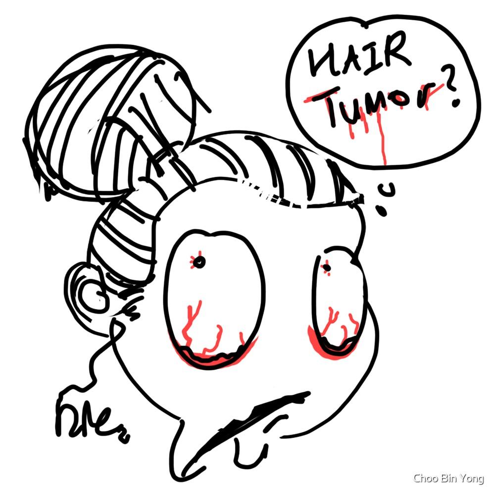 Hair in a ball by iikii