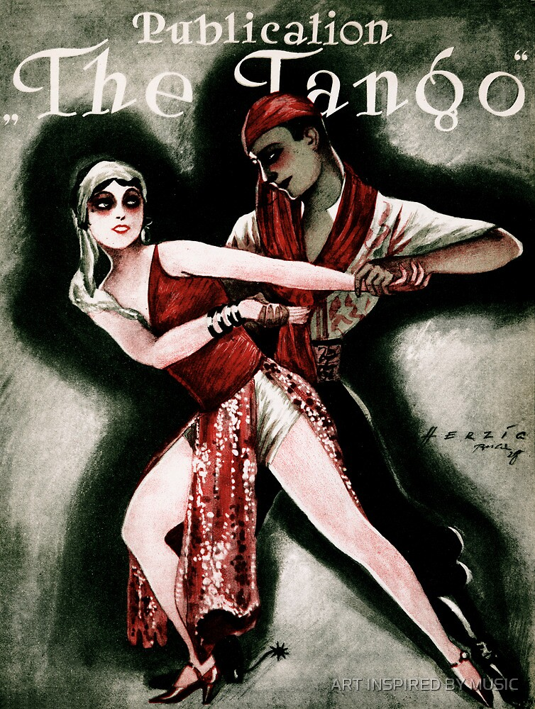THE TANGO (vintage illustration) by ART INSPIRED BY MUSIC