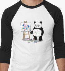 Pandas paint colorful pictures. Men's Baseball ¾ T-Shirt