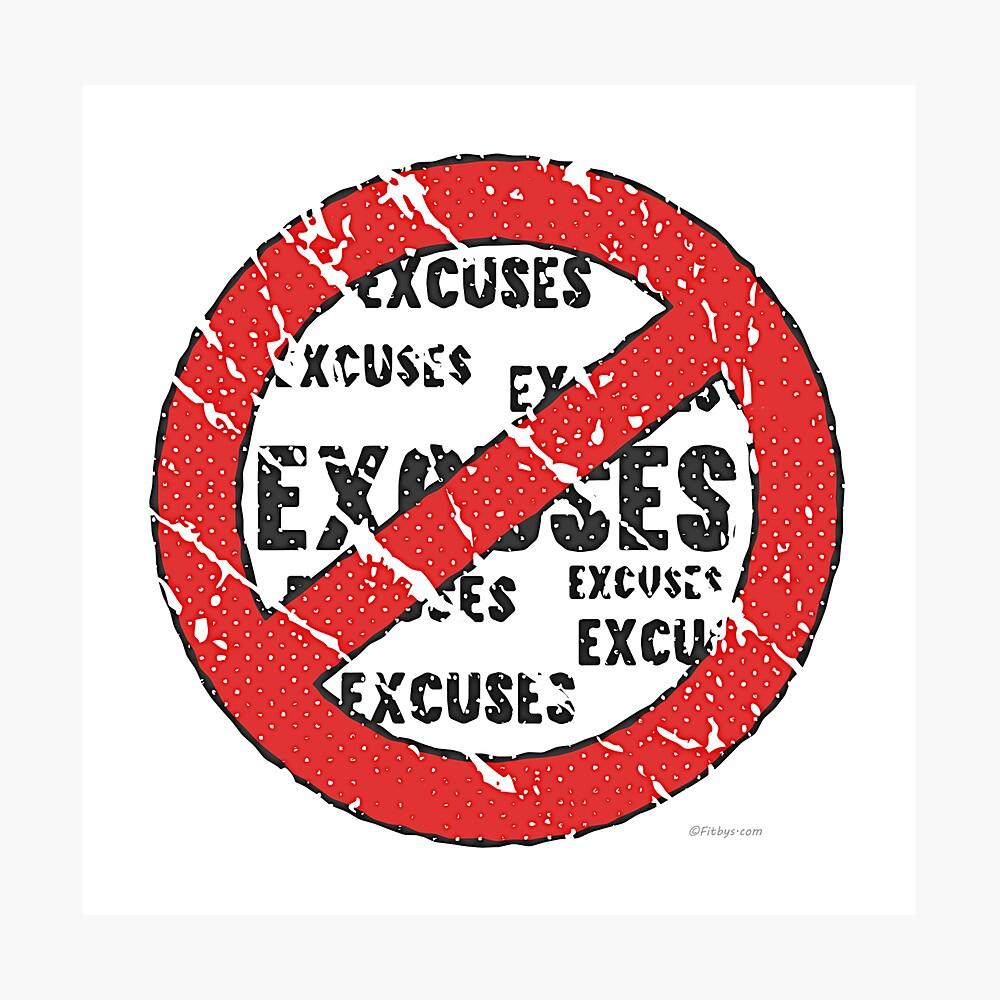 Sin excusas Regístrate | Estilo vintage Lámina fotográfica