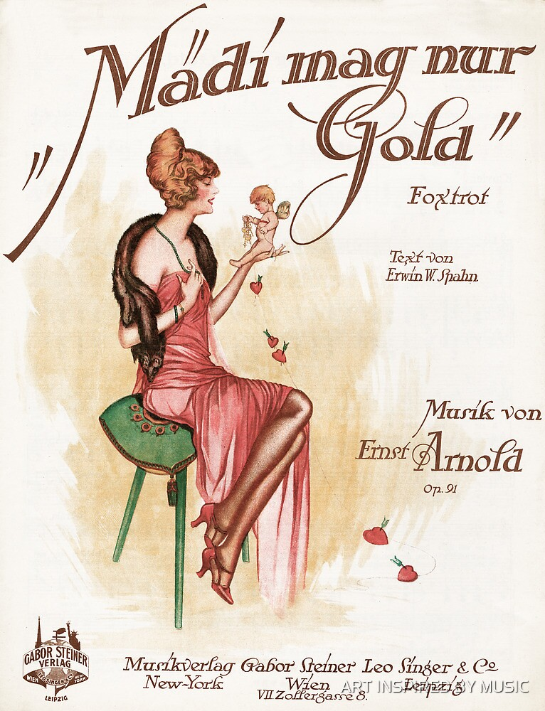 MADI MAG NUR GOLD (vintage illustration) by ART INSPIRED BY MUSIC