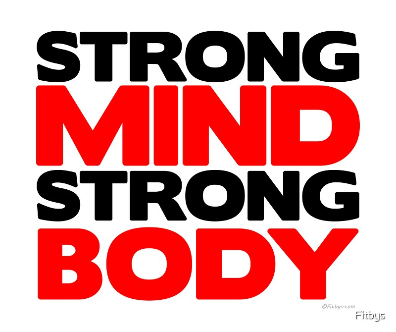Strong Mind Body Fitness Slogan Greeting Cards
