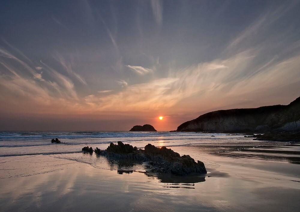 sunset traeth llyfn by paul mcgreevy