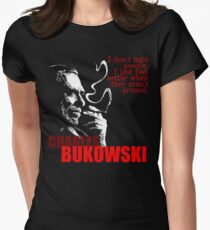 Poet & Author Charles Bukowski Tee Women's Fitted T-Shirt