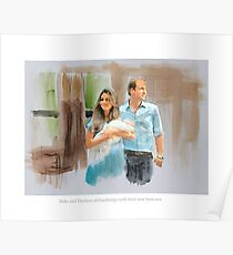 Duke and Duchess of Cambridge with their new born son Poster