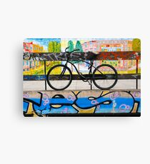 On your bike Banksey Canvas Print