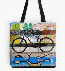 On your bike Banksey Tote Bag