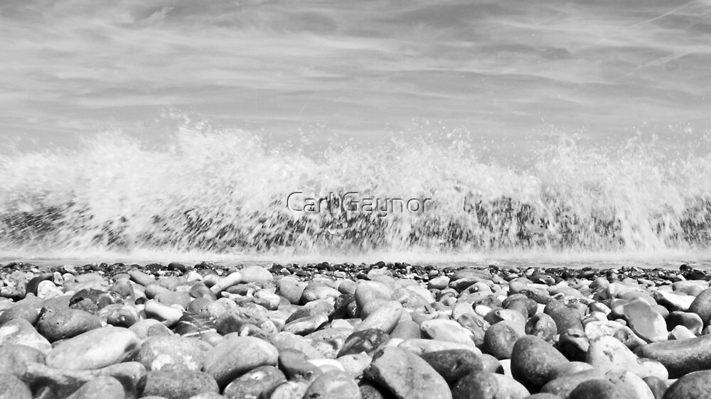 The North Sea,East Coast - Sizewell  (Triptych) by Carl Gaynor