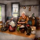 Chef - Kitchen - Cleaning cherries  by Michael Savad