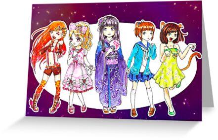 Rainbow Girls by MoonyIsMoony